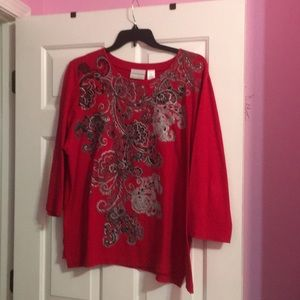 Top 3/4 sleeves cotton and polyester